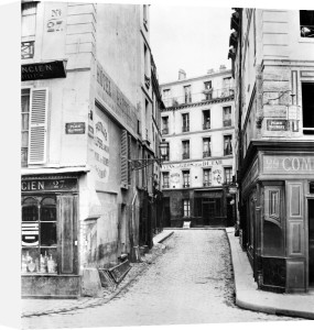Rue Maitre Albert Paris 1858 (I) by Charles Marville
