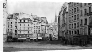 Place Maubert from the Marche des Carmes Paris 1858 by Charles Marville