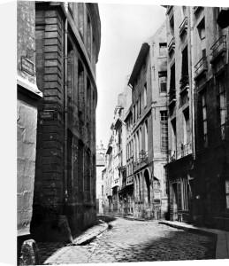 Rue Serpente Paris 1858 by Charles Marville
