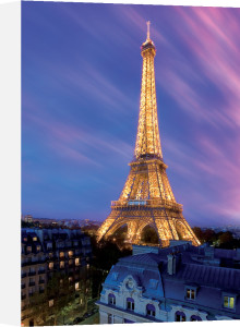 Eiffel Tower at Dusk by Anonymous
