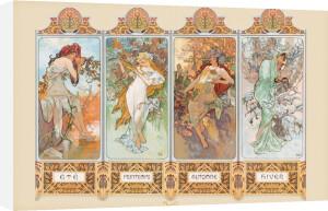 Mucha (4 Seasons) by Alphonse Mucha