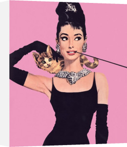 Audrey Hepburn (Pink) by Anonymous