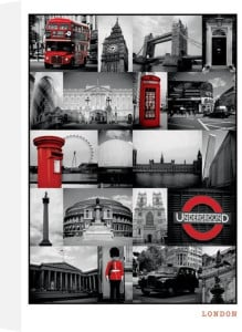 London (Red Collage) by Maxi