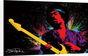 Jimi Hendrix (Paint) by Maxi
