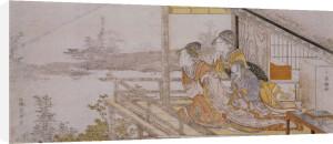 Sunrise on the First Day of Spring, Surimono by Katsushika Hokusai