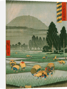 Rice planting by Ando Hiroshige