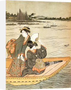 Women on a boat trip by Torii Kiyonaga