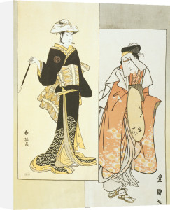 Actors on the Stage by Utagawa Toyokuni
