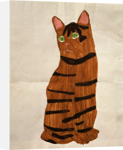 Cat, child's drawing by Anonymous