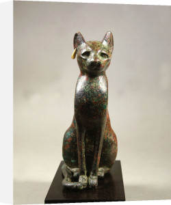 Cat goddess Bastet, bronze by Anonymous