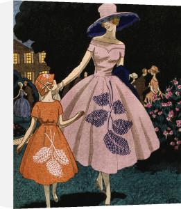 'La fête est finie' (the fête is over) organdie dress by Jeanne Lanvin by Anonymous