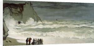 Heavy seas at Etretat, France, 1872 by Claude Monet