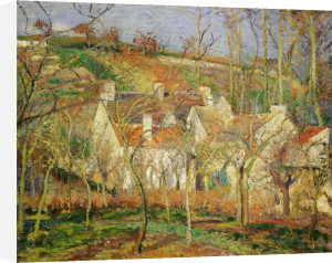 The red roofs village in winter, 1877 by Camille Pissarro