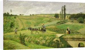 The Ennery road near Pontoise 1874 by Camille Pissarro