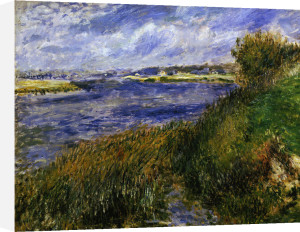 The river Seine at Champrosay, Essonne, 1876 by Pierre Auguste Renoir