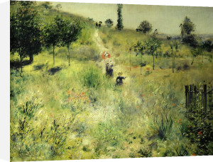 Pathway through high grass, 1876 by Pierre Auguste Renoir