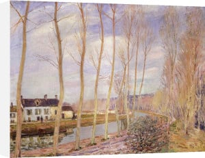 Le canal du Loing, Moret sur Loin by Alfred Sisley