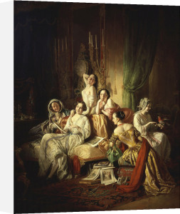 Girls after the ball by Josef Borsos