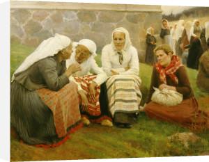 Peasants outside church, 1887 by Albert Gustaf Aristides Edelfelt