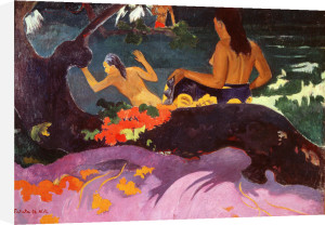 Tahitian women bathing, 1892 by Paul Gauguin