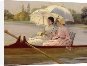 On the Thames, 1878 (Detail) by Giuseppe de Nittis