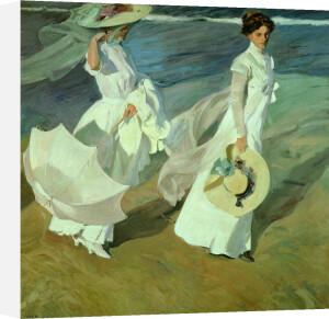 Women walking on the Beach, 1909 by Joaquin Sorolla y Bastida