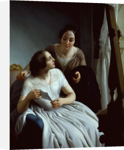 Two women, 1853 by Luigi Trecourt