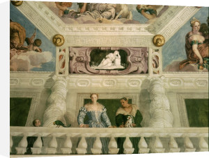 Two women on a balcony by Paolo Caliari Veronese