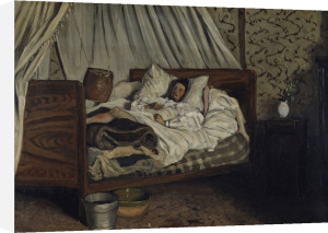 Claude Monet wounded by Jean Frederic Bazille
