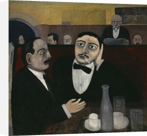 The Intellectuals at la Rotonde by Tullio Garbari
