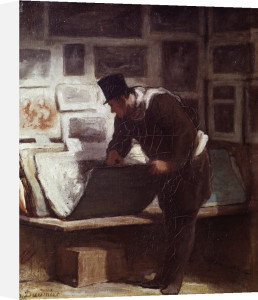 The Print Lover by Honoré-Victorin Daumier