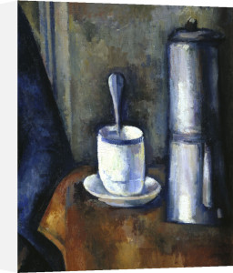 Woman with coffee pot (detail of pot) by Paul Cezanne