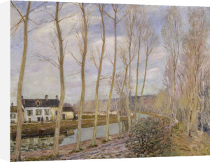 The canal of the river Loing by Alfred Sisley