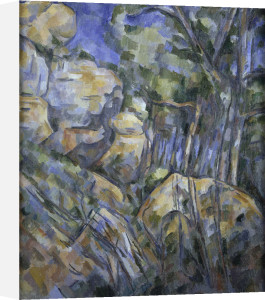 Rocks near the caves above Chateau Noir by Paul Cezanne