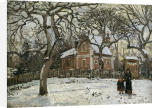Chestnut trees in Louveciennes by Camille Pissarro