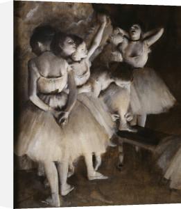 Ballet rehearsal (detail 1) by Edgar Degas