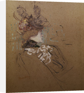 Profile of a Woman - Madame Lucy by Henri de Toulouse-Lautrec