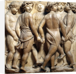 Group of young boys dancing by Andrea Della Robbia