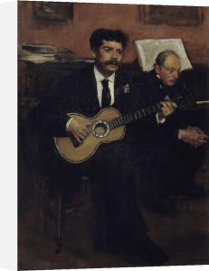 Lorenzo Pagans and Auguste Degas by Edgar Degas