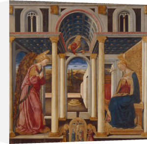 Annunciation to Mary by Neri di Bicci