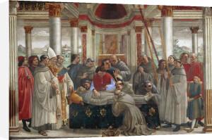 The exequies of Saint Francis of Assisi by Domenico Bigordi Ghirlandaio