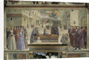 Saint Francis raises child from the dead by Domenico Bigordi Ghirlandaio