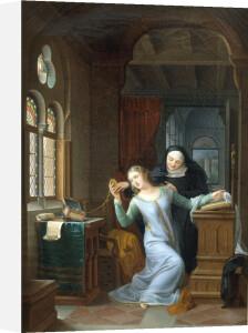 Heloise embraces Monastic life by Jean Antoine Laurent