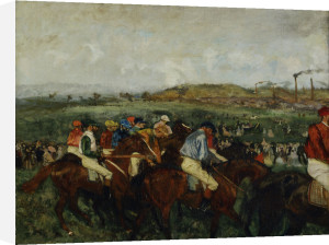 Gentlemen Race. Before the Start by Edgar Degas