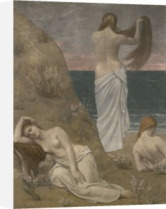 Young women at the ocean by Pierre Puvis de Chavannes