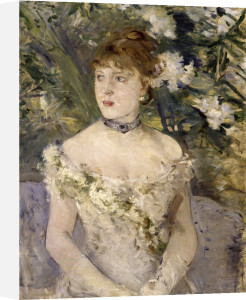 Young lady wearing a ballgown by Berthe Morisot