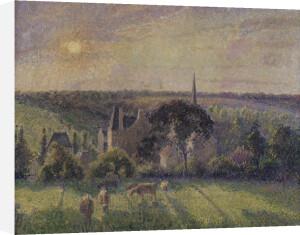Landscape at Eragny by Camille Pissarro
