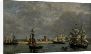 The Port of Camaret (landscape) by Eugene Louis Boudin