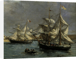 The Port of Camaret by Eugene Louis Boudin