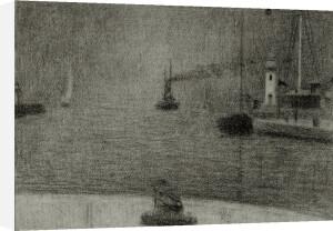 Honfleur harbour entrance by Georges Seurat